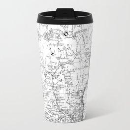 Vintage Map of Minnesota (1864) BW Travel Mug