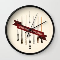 marauders Wall Clocks featuring Mischief Managed by Dorothy Leigh
