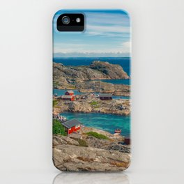 Sleepy Coastal Village Photo iPhone Case