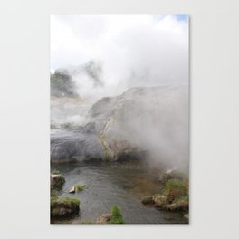 Steam in New Zealand Canvas Print