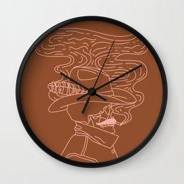 Love or Die Tryin' - Cowhand - Rust & Peach Wall Clock