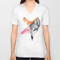 eric fan V-neck T-shirts featuring Wild - by Eric Fan and Garima Dhawan by Eric Fan