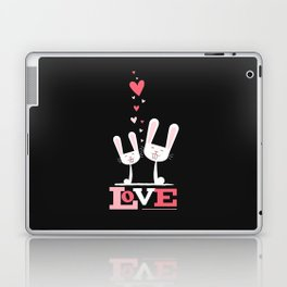 2 Bunnies in Love Laptop & iPad Skin