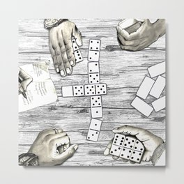 """Dominoes, anyone?"" Metal Print"