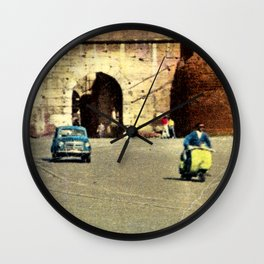 Scooter in Rome Wall Clock