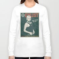 battlestar Long Sleeve T-shirts featuring Starbuck by Arne AKA Ratscape