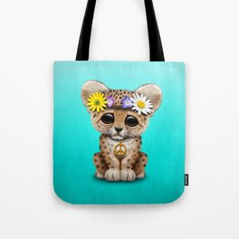 Cute Baby Leopard Cub Hippie Tote Bag