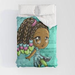 Happy African American Girl Comforters