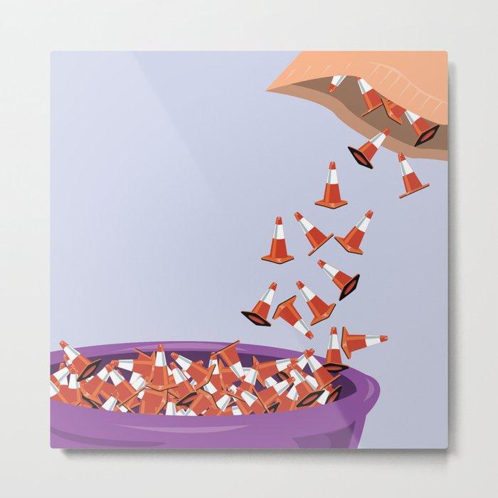 Candy Cones Metal Print