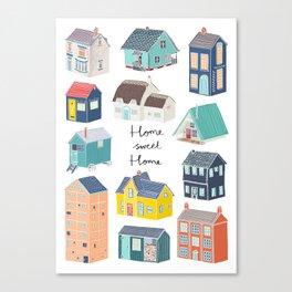 Home Sweet Home - Little Houses Print Canvas Print