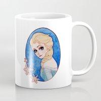 frozen elsa Mugs featuring Elsa - Frozen by Naineuh