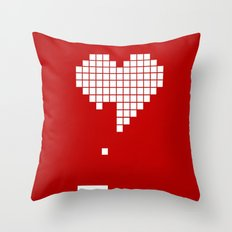 Arknoid Heart Throw Pillow