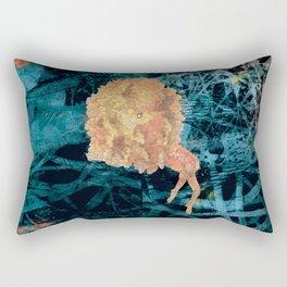 Something on Her mind.. Rectangular Pillow
