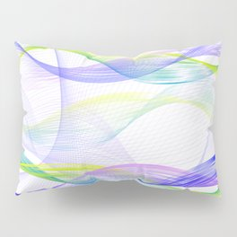 Background with colorful lines Pillow Sham