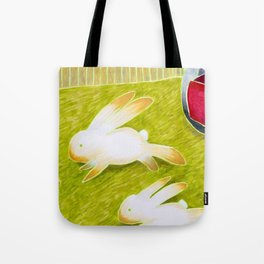 Bunnies and Mower Tote Bag