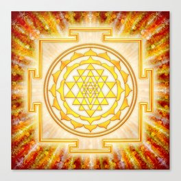 Sri Yantra - Light Canvas Print