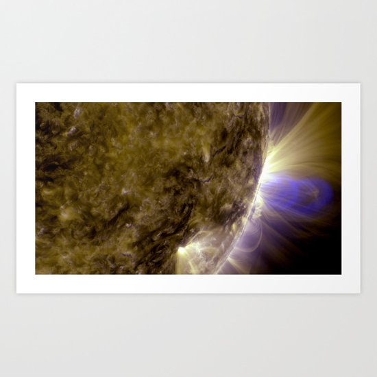 Solar Dynamics Observatory Flux Ropes on the Sun Art Print Photo Art Print
