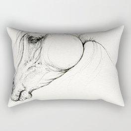 Arabian horse ink art Rectangular Pillow