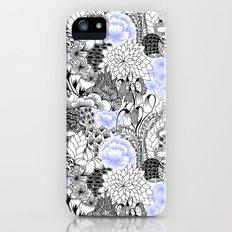 Periwinkle Peony Slim Case iPhone (5, 5s)
