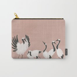 Crane Dance - Mauve Pink Carry-All Pouch