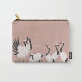 Crane Dance - Mauve Pink Carry-All Pouch