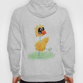 Little Cartoon Chicken Chick With Stripy Feet Hoody