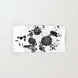 Broken Floral Sketch Hand & Bath Towel