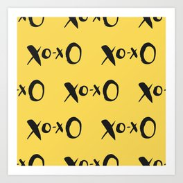 Kisses XOXO Lemon Zest Art Print