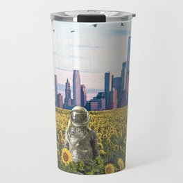 Astronaut in the Field-New York City Skyline Travel Mug