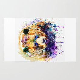Colorful Grizzly Bear Rug
