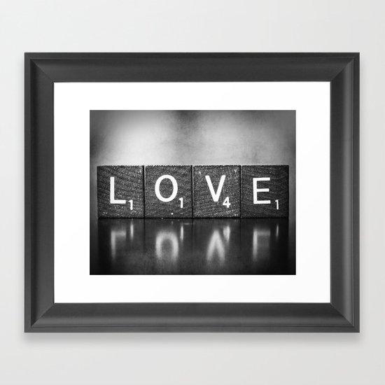 Love is a Beautiful Word - a fine art photograph Framed Art Print