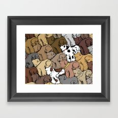 Dog Tessellation Framed Art Print