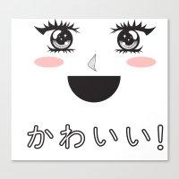 kawaii Canvas Prints featuring Kawaii! by Countercultural