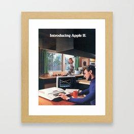 Introducing: Apple II, 1977 (Vintage Advertisement) Framed Art Print