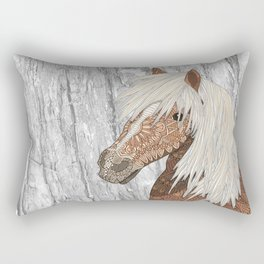 Haflinger Horse Rectangular Pillow