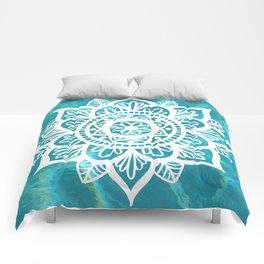 Water Mandala Comforters