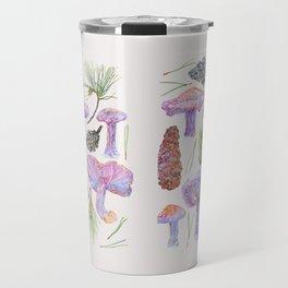 Wood Blewits and Pine - Botanical Travel Mug