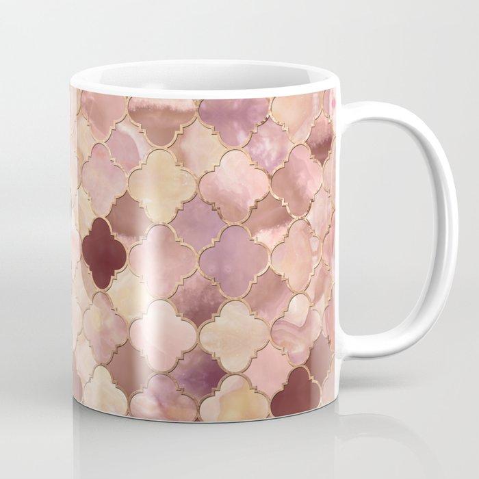Quatrefoil Moroccan Pattern Pastel Onyx Marble Coffee Mug