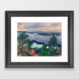 Edvard Munch - Train Smoke, 1900 Framed Art Print