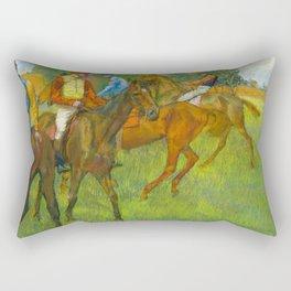 Before the Race - By Edgar Degas Rectangular Pillow