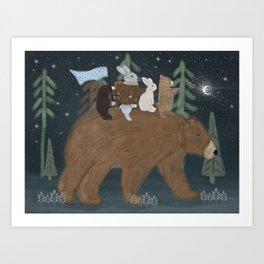 the moon bear Art Print