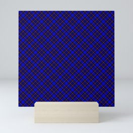 Scottish Fabric Blue High Resolution Mini Art Print