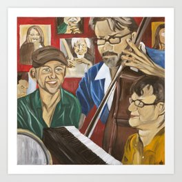 Jazz Orgy Art Print