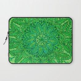 mandala of greenery Laptop Sleeve