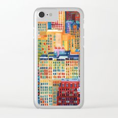 New York buildings Clear iPhone Case