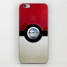 Red Chrome Monster ball iPhone Skin