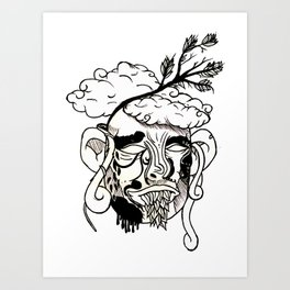 Whacky Face Art Print