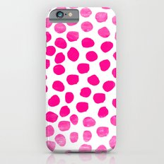 Ombre dots cute hot pink trendy must have gifts for college dorm room decor affordable painting iPhone 6s Slim Case