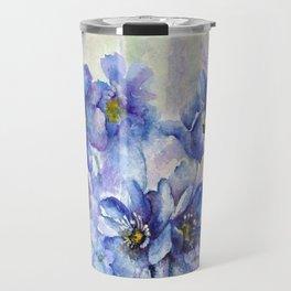 Watercolor Poppies and Lilies Travel Mug