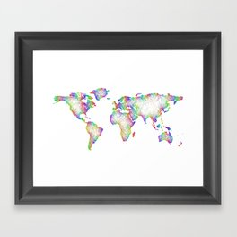 Rainbow World map Framed Art Print